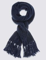 Marks and Spencer Cross Cable Tassle Scarf