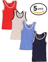 Fruit of the Loom 5Pack Boys Assorted A-Shirts Tank Tops Undershirts Tanks M