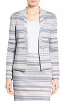 Halogen Zip Pocket Tweed Open Front Jacket (Regular & Petite)