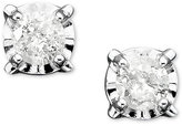 Diamond Stud Earrings in 14k White Gold (1/5 ct. t.w.)