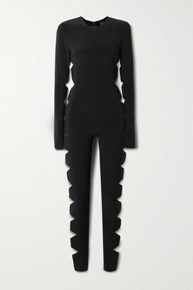 Norma Kamali Cutout Stretch-jersey Jumpsuit - Black