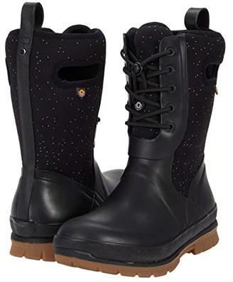 Bogs Crandall Lace Speckle (Black) Women's Boots