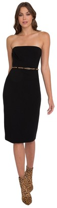 Black Halo Strapless Pencil Dress