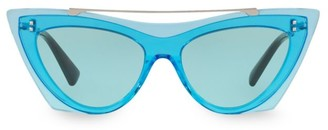 Valentino VA4041 Solid Blue 53MM Cat Eye Sunglasses