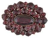 Garnet Vintage Brooch