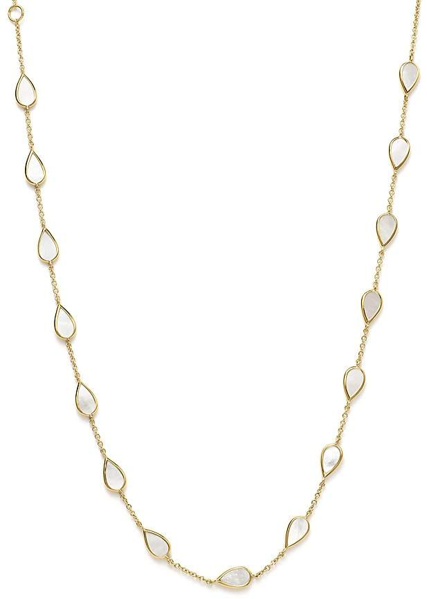 Ippolita 18K Yellow Gold Rock Candy® Station Necklace with Mother-of-Pearl, 16""