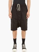 Rick Owens Drkshdw Black Boxer Pod Shorts