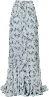 Erdem draped floral maxi skirt