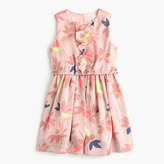 J.Crew Girls' ruffle-front dress in colorful leaf print