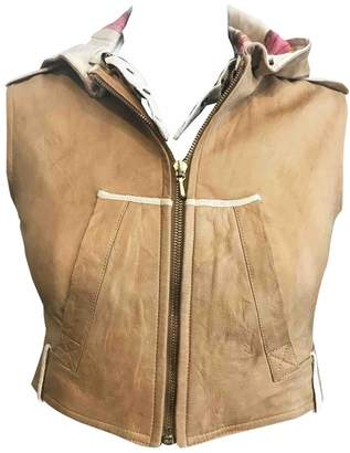Christian Dior Camel Leather Leather jackets