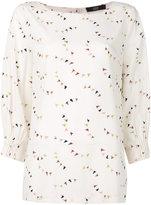 Steffen Schraut little flags print blouse - women - Silk/Spandex/Elastane - 36