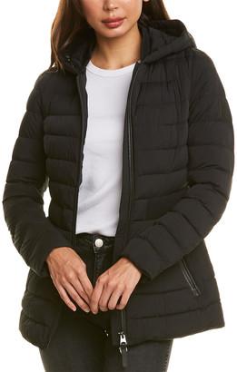 Mackage Kaila-R Medium Leather-Trim Down Coat