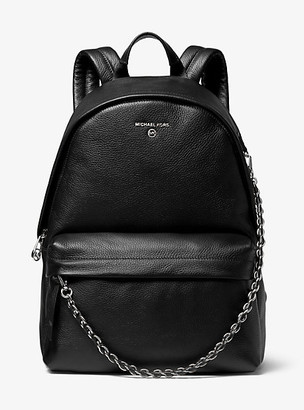 MICHAEL Michael Kors MK Slater Large Pebbled Leather Backpack - Black - Michael Kors
