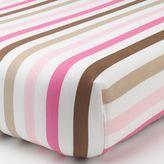 Bacati Mod Dots & Stripes Pink Stripe Fitted Crib Sheet
