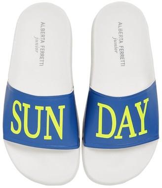 Alberta Ferretti Sunday Print Rubber Slide Sandals