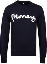 Money Navy Ape Patch Crew Neck Sweatshirt
