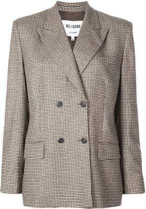 RE/DONE double-breasted houndstooth blazer