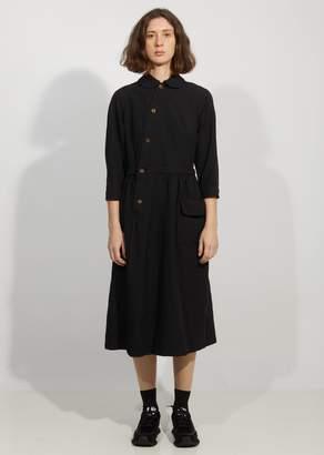 Comme des Garcons Garment Treated Oxford Asymetric Shirt Dress