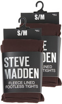 Steve Madden 2 Pack Fleece Lined Footless Tight