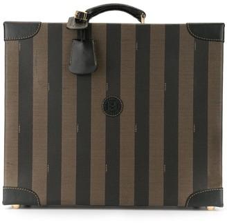 Fendi Pre-Owned Pequin pattern trunk bag