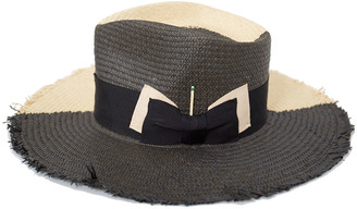 Nick Fouquet Tree Bones Two-Tone Straw Fedora Hat
