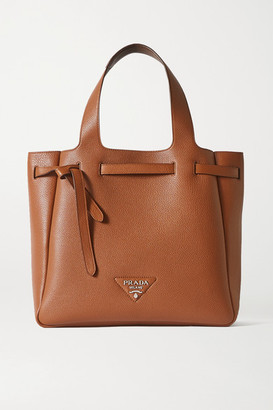 Prada Diano Large Textured-leather Tote - Tan