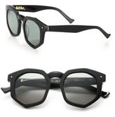 Grey Ant Composite 56MM Round Sunglasses