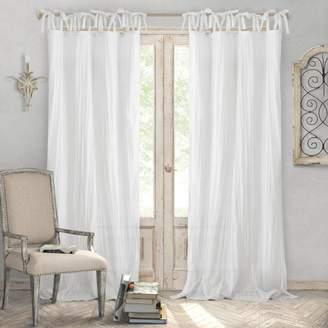 """Jolie Semi-Sheer Pleated Curtain Panel, 52"""" x 95"""""""