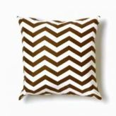 Zigzag Brown/White Throw Pillow