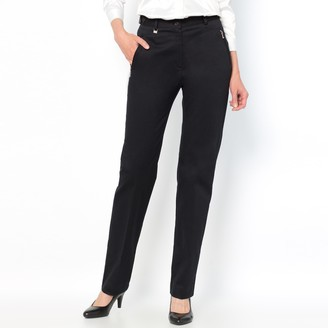 """Anne Weyburn Stretch Cotton Satin Trousers, Length 30.5"""""""