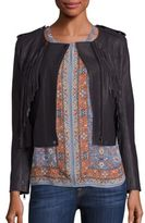 Joie Zeno Leather Fringe Jacket