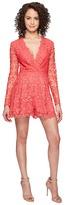 Nicole Miller Azelle Long Sleeve Crochet Lace Romper Women's Jumpsuit & Rompers One Piece