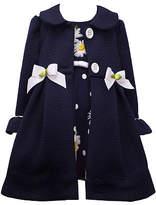 Bonnie Jean Little Kid Girls Sleeveless Dress Set, 4 , Blue