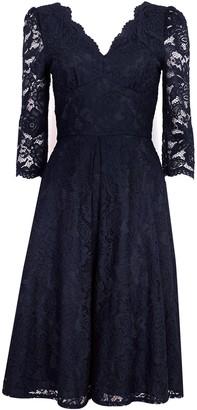 Wallis **Jolie Moi Navy Lace Midi Dress