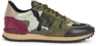 Valentino Garavani Runner Camouflage-print Suede Sneakers
