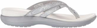 Crocs Women's Capri Strappy Flip Flop silver/silver 9 M US