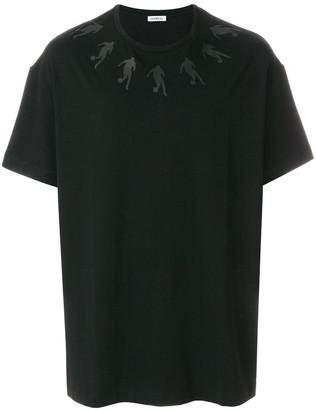 Dirk Bikkembergs printed neckline T-shirt