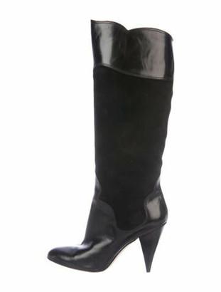 Oscar de la Renta Suede Boots Black