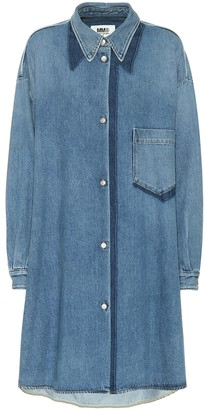 MM6 MAISON MARGIELA Denim mini shirt dress