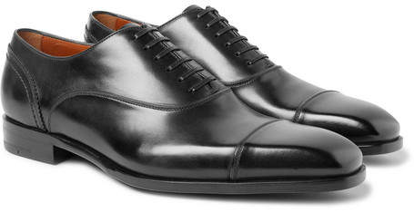 Ermenegildo Zegna Milano Cap-Toe Leather Oxford Shoes
