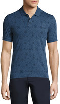 Original Penguin Graphic-Print Cotton Polo Shirt, Dark Denim