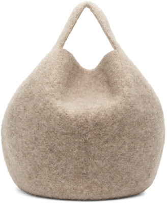 LAUREN MANOOGIAN Beige Felt Bowl Bag