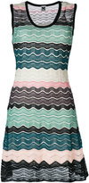 M Missoni knit wave panel dress - women - Polyamide/Polyester - 40