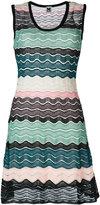 M Missoni knit wave panel dress