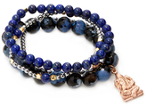Good Charma Ganesha & Agate Bangle Bracelets (Set of 4)