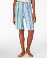 Hue Stripe Shuffle Bermuda Pajama Shorts