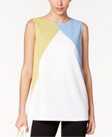 Alfani Colorblocked Shell, Only at Macy's