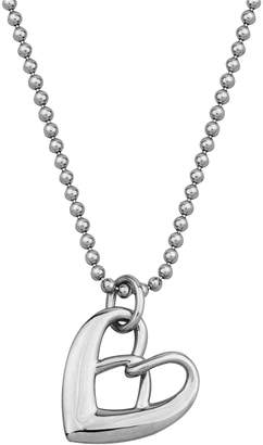 Elle Enrapture Sterling Silver Heart Pendant Necklace