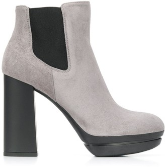 Hogan high-heeled suede boots