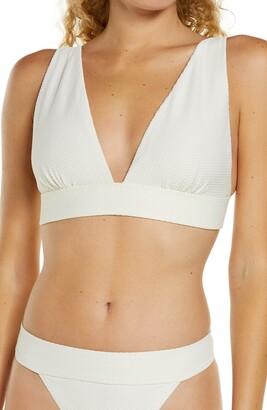 Chelsea28 Textured Plunge Bikini Top
